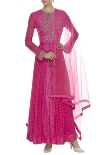 Brocade & Zardozi Embroidered Anarkali Set