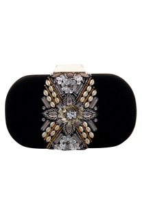 Sequin and bead embellished clutch box