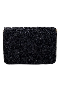 Beads embellished clutch box