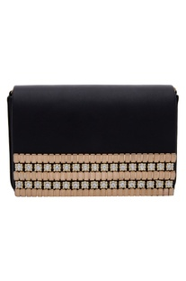 Stone embellished clutch box