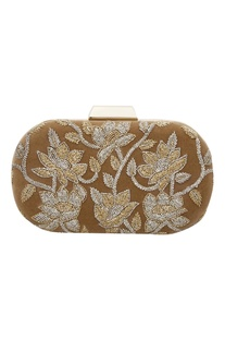 Cutdana embroidered clutch box