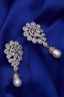 Pearl Droplet stone Earrings