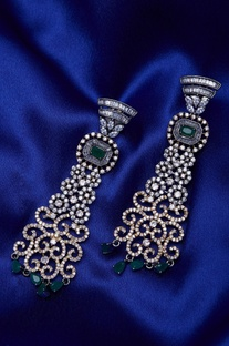 Stone encrusted earrings