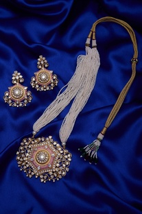 Meenakari pendant set