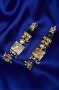 Earrings with jhumkas