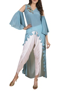High low tunic with dhoti pants