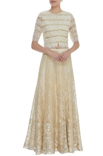 Gota & Sequin Embroidered Lehenga With Blouse