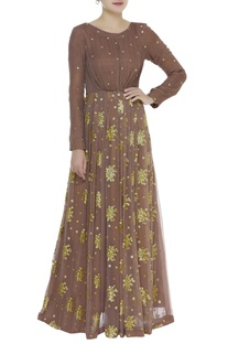 Sequin embroidered anarkali kurta