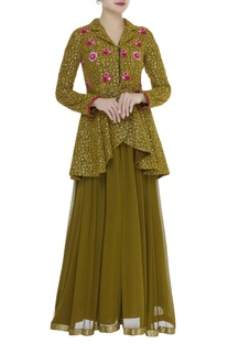 Resham embroidered peplum tunic