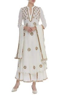 A-Line Bead Embroidered kurta Sharara Set