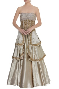 Corset style cocktail gown