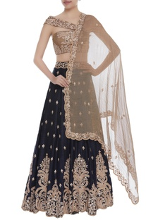 Gota work lehenga with dupatta & blouse