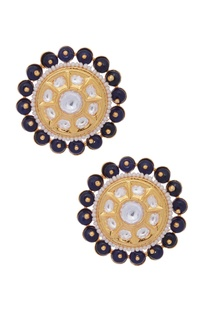 Kundan & pearl stone stud earrings