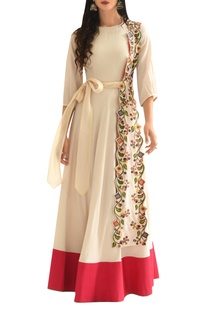 Threadwork embroidered anarkali kurta