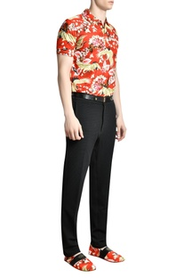 Printed Collared polo t-shirt