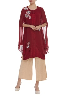 Flamingo embroidered tunic with Long Sleeves