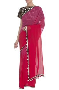 Gota Embroidered Saree With Blouse