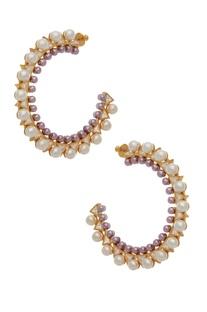 Bead loop earrings