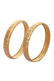 Textured metal bangles