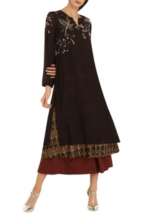 Printed & embroidered tunic