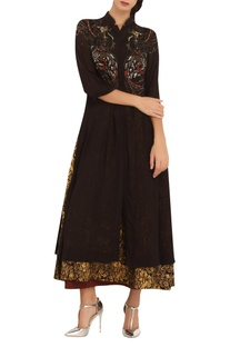 Printed & embroidered tunic with inner