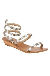 Ankle High Floral Wooden Wedges