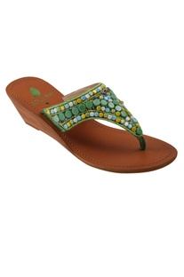 Ambrosia bead Embroidered Wedges