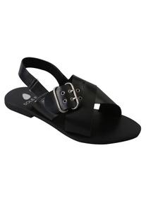 Buckle Design Strap Heel sandals