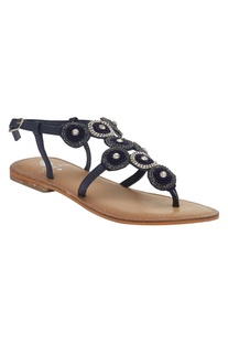 Beaded & stone Back Strap Sandals