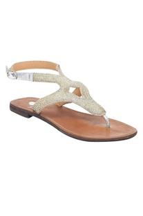 Back Strap Beaded Sandals
