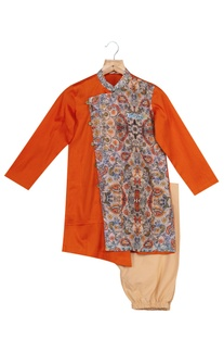 Katha Print Kurta With Churidaar