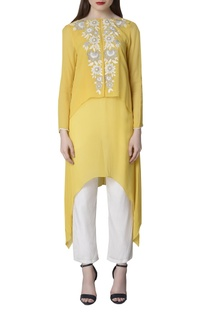 Embroidered layered tunic