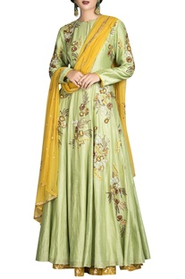 Embroidered anarkali & lehenga set