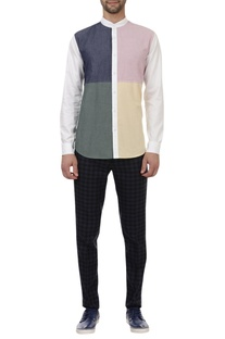 Colour block\ regular shirt