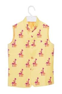 Giraffe print nehru jacket