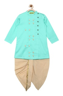 Embroidered kurta with dhoti pants
