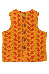 Bird Print Nehru Jacket
