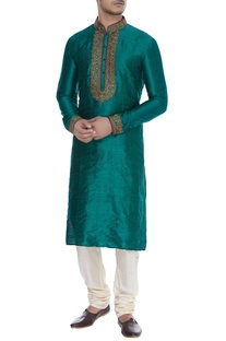 Sequin embroidered long kurta
