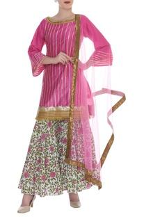 Printed & embroidered kurta set