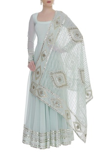 Gota embroidered kurta with dupatta