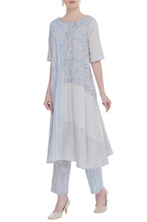 Block printed long kurta