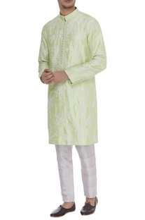Cord embroidered kurta