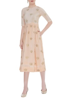 Gandaberunda Embroidered Midi Dress