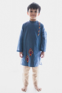 Embroidered peacock kurta with pants