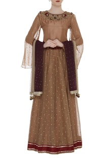 Lehenga Set with Embroidered Yoke