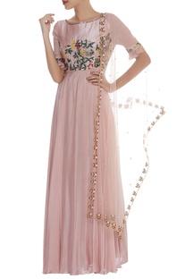 Zardozi Embroidered Dress With Dupatta