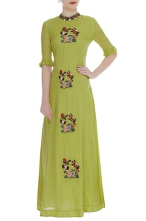 Buta Embroidered Dress