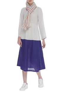 Handwoven stripe scarf