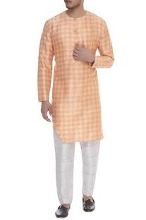 Chequered straight classic kurta
