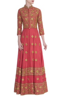 Bead Embroidered Kurta Lehenga Set